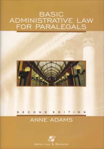 9780735528970: Basic Administrative Law for Paralegals