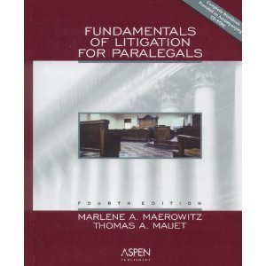 9780735529175: Fundamentals of Litigation for Paralegals