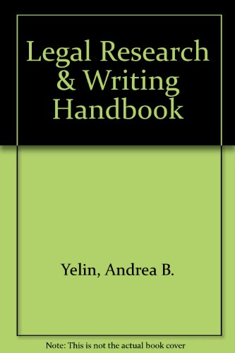 9780735529342: The Legal Research and Writing Handbook: A Basic Approach for Paralegals