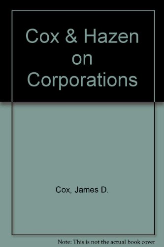 9780735530546: Cox and Hazen on Corporations