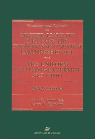 9780735530782: Bromberg and Ribstein on Llp and Rupa 2002
