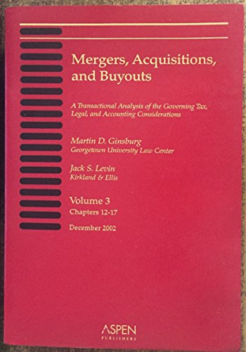 9780735531536: Mergers, Acquisitions, and Buyouts 11/02