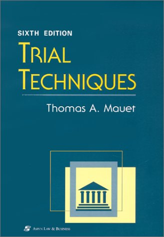 9780735532403: Trial Techniques (Coursebook Series)