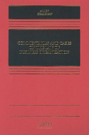 9780735533844: Commentaries and Cases on the Law of Business Organization