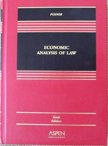 9780735534742: Economic Analysis of Law