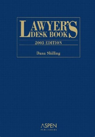9780735535497: Lawyer's Desk Book 2003 Edition HB
