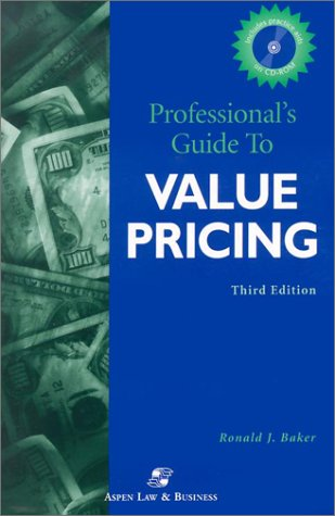 9780735535558: Professional's Guide to Value Pricing (Professional's Guide to Value Pricing W/CD)