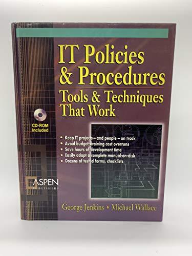 9780735537439: IT Policies & Procedures: Tools & Techniques That Work (IT Governance Policies & Procedures)