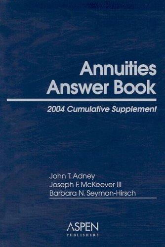 9780735537927: Annuities Answer Book: Cumulative Supplement