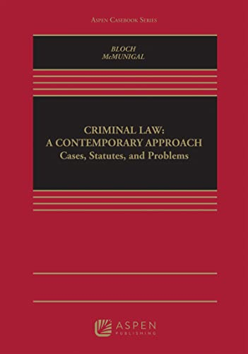 9780735539655: Criminal Law: A Contemporary Approach (Casebook Series)