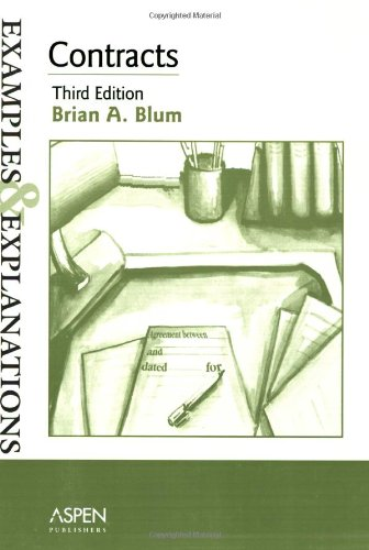 9780735539693: Contracts: Examples and Explanations (Examples & Explanations Series)