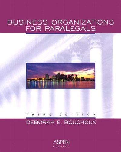 9780735539709: Business Organizations for Paralegals