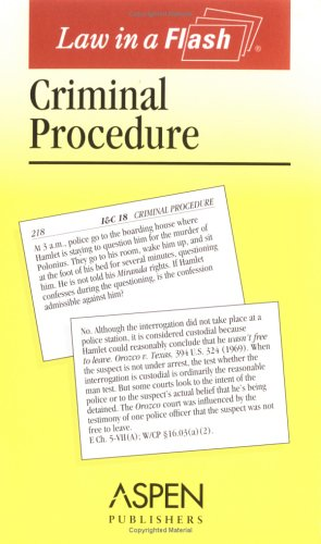 9780735540026: Criminal Procedure (Law in a Flash)