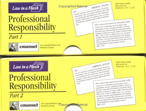 9780735540071: Professional Responsibility (Law in a Flash Cards) (Double Card Set)