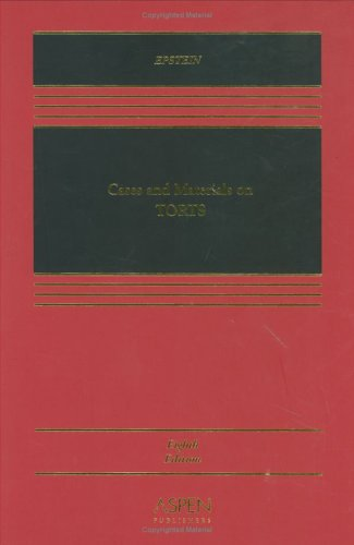 9780735540118: Cases and Materials on Torts