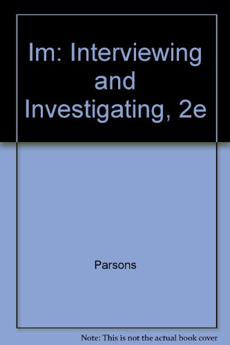 Im: Interviewing and Investigating, 2e: n/a