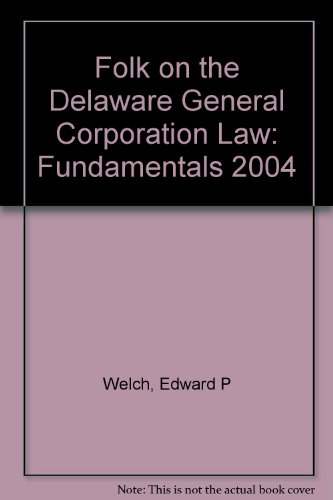 9780735541979: Folk on the Delaware General Corporation Law: Fundamentals 2004