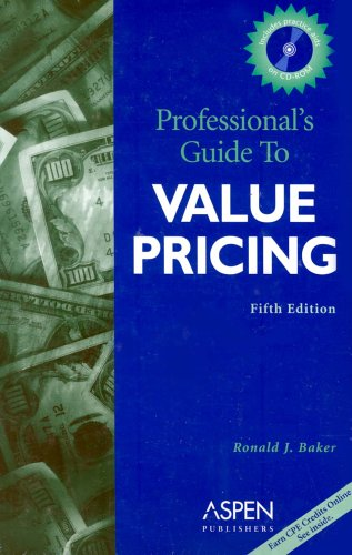 9780735543171: Professional's Guide to Value Pricing (Professional's Guide to Value Pricing W/CD)