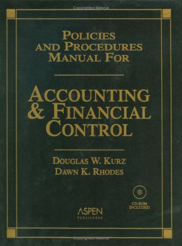 9780735544321: Policies and Procedures Manual for Accounting and Financial Control