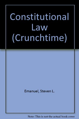 9780735544703: Constitutional Law (Crunchtime)