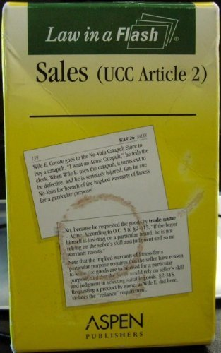 9780735544840: Sales, UCC Article 2