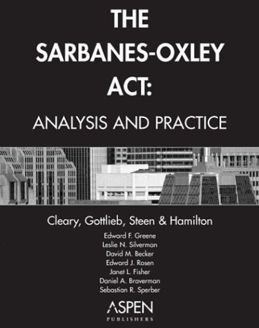 analysis and application of sarbanes oxley act Although there are many financial and audit issues within the sarbanes-oxley act,  analysis the us public  as part of sarbanes-oxley compliance application .