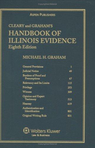 9780735544994: Handbook of Illinois Evidence