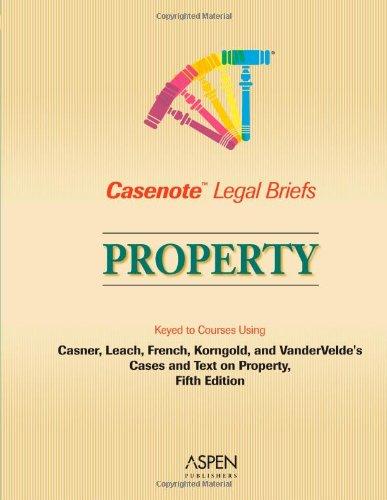 9780735545359: Casenote Legal Briefs: Property - Keyed to Casner, Leach, French, Korngold & Vandervelde