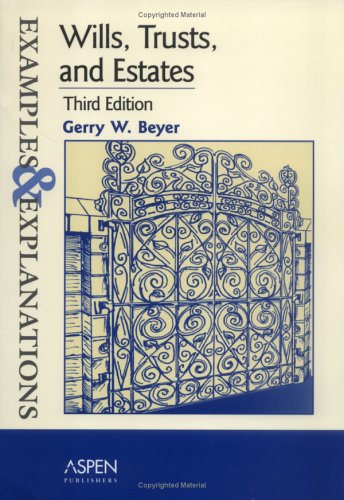 9780735545601: Wills, Trusts, And Estates: Examples And Explanations (Examples & Explanations)