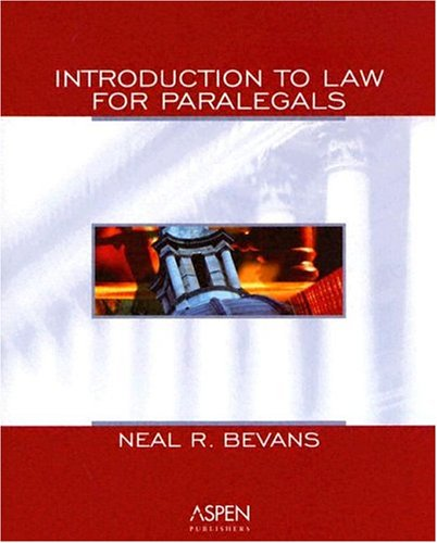 9780735545946: Introduction to Law for Paralegals