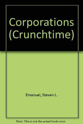 9780735545984: Corporations (Crunchtime)