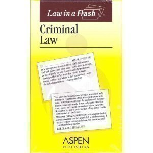 9780735546257: Criminal Law (Law in a Flash)