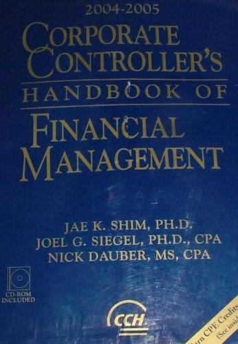 9780735547858: Corporate Controller's Handbook of Financial Management 2004-2005