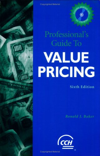 9780735548060: Professional's Guide to Value Pricing (Professional's Guide to Value Pricing W/CD)