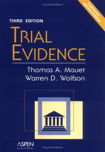 9780735549975: Trial Evidence