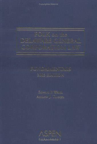 9780735550339: Folk on the Delaware General Corporation Law: Fundamentals, 2005 Edition
