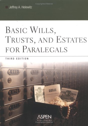 9780735551114: Basic Wills, Trusts, And Estates for Paralegals