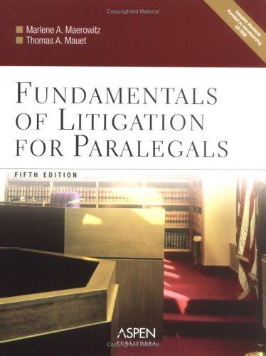 9780735551145: Fundamentals of Litigation for Paralegals