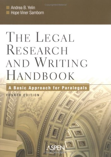 9780735551206: The Legal Research and Writing Handbook: A Basic Approach for Paralegals