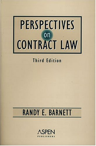 9780735551671: Perspectives On Contract Law (Perspectives Reader)
