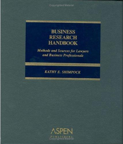 9780735552678: Business Research Handbook (6x9)