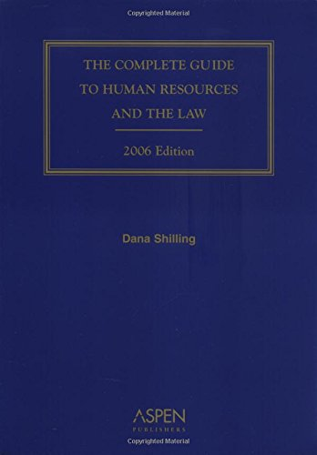 9780735553248: The Complete Guide to Human Resources and the Law (Complete Guide to Human Resources & the Law)