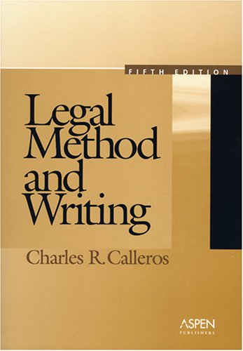 9780735553750: Legal Method and Writing, Fifth Edition