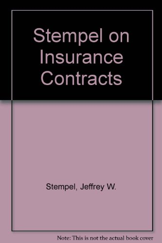 9780735554368: Stempel on Insurance Contracts