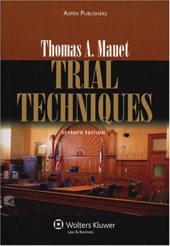 9780735555594: Trial Techniques
