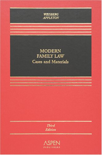 9780735556102: Modern Family Law, Third Edition (Casebook)