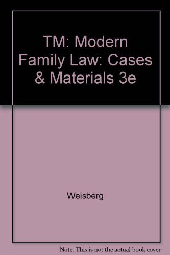 9780735556119: TM: Modern Family Law: Cases & Materials 3e