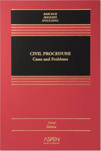 9780735556201: Civil Procedure: Cases And Problems (Casebook)