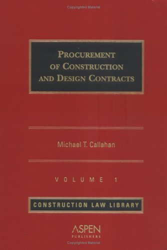 9780735556997: Procurement of Construction & Design Contracts