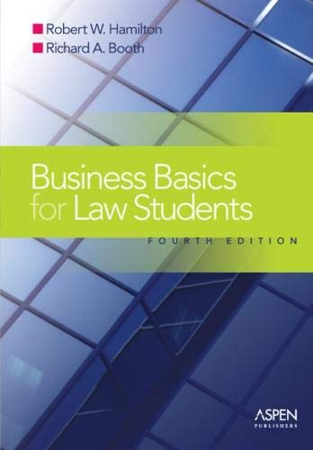 9780735557444: Business Basics Law Students: Essential Concepts and Applications